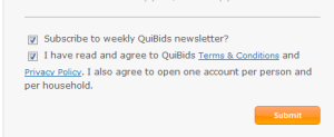 Quibids terms and conditions
